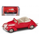 1937 Ford V8 Convertible Red 1/43 Diecast Car by Road Signature