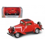 1932 Ford 3 Window Coupe Red 1/43 Diecast Car by Road Signature