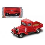 1934 Ford Pick Up Red 1/43 Diecast Car by Road Signature