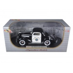 1936 Pontiac Deluxe Highway Patrol Car 1/18 Diecast Model Car by Signature Models