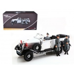 1938 Mercedes G4 White With 3 Figurines 1/18 Diecast Model Car by Signature Models