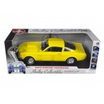 1966 Ford Shelby Mustang GT 350 Fastback Yellow 1/18 Diecast Car Model by Shelby Collectibles