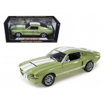 1967 Ford Shelby Mustang GT 500 Green With White Stripes 1/18 Diecast Model Car by Shelby Collectibles