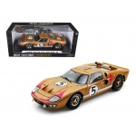 1966 Ford GT-40 MK 2 Gold #5 1/18 Diecast Car Model by Shelby Collectibles