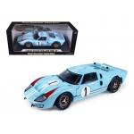 1966 Ford GT-40 MK 2 Blue #1 1/18 Diecast Model Car by Shelby Collectibles
