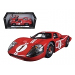 1967 Ford GT MK IV #1 Red LeMans Winner 24 Hours 1/18 Diecast Model Car by Shelby Collectibles
