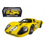 1967 Ford GT MK IV #2 Yellow LeMans 24 Hours Mark Donohue / B.Mclane 1/18 Diecast Model Car by Shelby Collectibles