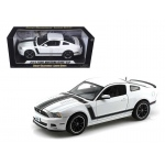 2013 Ford Mustang Boss 302 White 1/18 Diecast Car Model by Shelby Collectibles