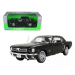 1964 1/2 Ford Mustang Hard Top Black 1/18 Diecast Model by Welly