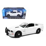 2007 Saleen S281 E Mustang Unmarked Police Car White 1/18 Diecast Car Model by Welly