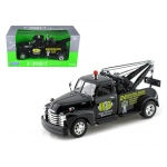 "1953 Chevrolet 3800 Tow Truck Black ""Road Service"" 1/24 Diecast Model by Welly"