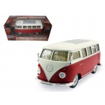 1962 Volkswagen Classical Bus Low Rider Red 1/24 Diecast Car Model by Welly