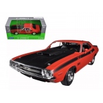 1970 Dodge Challenger T/A Orange 1/24 Diecast Model Car by Welly