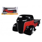 1947 Ford COE Red / Black 1/24 Diecast Car Model by Jada