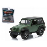 "2015 Jeep Wrangler Rubicon Hard Rock Tank Green ""All Terrain"" Series 1 1/64 Diecast Model Car by Greenlight"