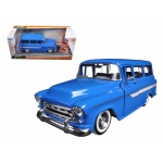 "1957 Chevrolet Suburban Blue ""Just Trucks"" with Extra Wheels 1/24 Diecast Model by Jada"