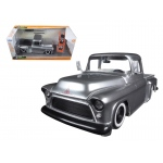 "1955 Chevrolet Stepside Pickup Truck Silver ""Just Trucks"" with Extra Wheels 1/24 Diecast Model by Jada"