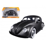 1959 Volkswagen Beetle Satin Metallic Matt Gray with Baby Moon Wheels 1/24 Diecast Model Car by Jada