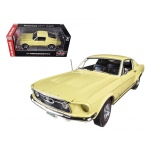 1967 Ford Mustang 2+2 GT Aspen Gold Limited to 1250pc 50th Anniversary 1/18 Diecast Car Model by Autoworld