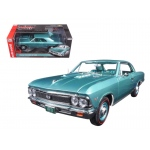 1966 Chevrolet Chevelle SS 396 L78 Artesian Turquoise 50th Engine Anniversary Limited Edition to 1002pc 1/18 Diecast Model Car by Autoworld