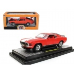 1970 Ford Mustang Mach 1 428 Calypso Coral 1/24 Diecast Model Car by M2 Machines