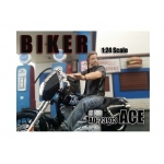 Biker Ace Figure For 1:24 Scale Models by American Diorama