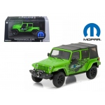 2014 Jeep Wrangler Unlimited Green Mopar Edition The Immortal Tribute With Display Showcase 1/43 Diecast Model Car by Greenlight