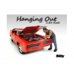 """Hanging Out"" Billy Figure For 1:24 Scale Models by American Diorama"