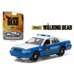 "Rick and Shane's 2001 Ford Crown Victoria Police Interceptor ""The Walking Dead"" TV Series (2010-2015) 1/64 Diecast Model Car by Greenlight"