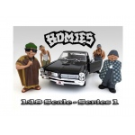 """Homies"" Figure Set of 4pc For 1:18 Scale Diecast Model Cars by American Diorama"