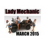 """Lady Mechanics"" 4 Piece Figure Set For 1:18 Scale Models by American Diorama"