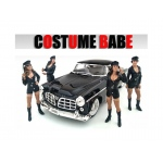 """Costume Babes"" 4 Piece Figure Set For 1:18 Scale Models by American Diorama"