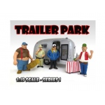 """Trailer Park"" Figure Set of 4pc For 1:18 Scale Diecast Model Cars by American Diorama"