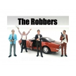 """The Robbers"" 4 Piece Figure Set For 1:18 Scale Models by American Diorama"