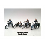 """Bikers"" 4 Piece Figure Set For 1:24 Scale Models by American Diorama"