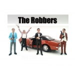 """The Robbers"" 4 Piece Figure Set For 1:24 Scale Models by American Diorama"