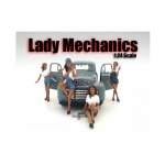 """Lady Mechanics"" 4 Piece Figure Set For 1:24 Scale Models by American Diorama"