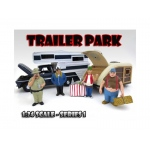 """Trailer Park"" Figure Set of 4 Pieces For 1:24 Scale Diecast Model Cars by American Diorama"