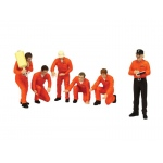 "F1 Pit Crew Figures Team ""Jagermeister"" Racing Set of 6 pc For 1/18 Scale Models by True Scale Miniatures"