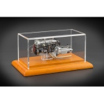 1961 Aston Martin DB4 GT Engine with Display Showcase 1/18 Diecast Model by CMC