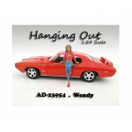 """Hanging Out"" Wendy Figurine / Figure For 1:24 Scale Models by American Diorama"