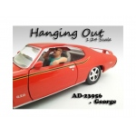 """Hanging Out"" George Figure For 1:24 Scale Models by American Diorama"
