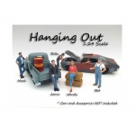 """Hanging Out"" 6 Pieces Figure Set For 1:24 Scale Models by American Diorama"