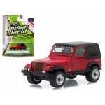 1992 Jeep Wrangler Hard Top YJ Red 1/64 Diecast Model Car by Greenlight