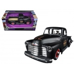 "1950 Chevrolet 3100 Pickup Truck Matt Black ""Outlaws"" 1/25 Diecast Model Car by Maisto"