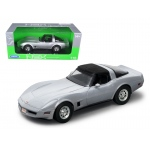 1982 Chevrolet Corvette Silver 1/18 Diecast Car Model by Welly