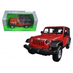 2007 Jeep Wrangler Red 1/24 Diecast Model Car by Welly