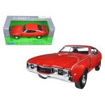 1968 Oldsmobile 442 Red 1/24 Diecast Model Car by Welly