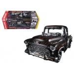 "1955 Chevrolet Stepside Pickup Truck ""The Three Stooges"" Tribute Limited Edition to 1002pcs 1/18 Diecast Model Car by Autoworld"