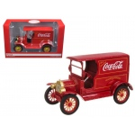 "1917 Ford Model T ""Coca Cola"" Delivery Truck Red 1/24 Diecast Car Model by Motorcity Classics"